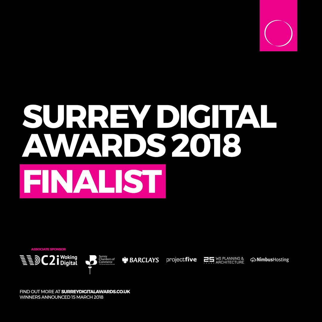 OH Creative are nominated for 5 Surrey Digital Awards!!